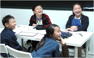 Groupofstudentslaughing
